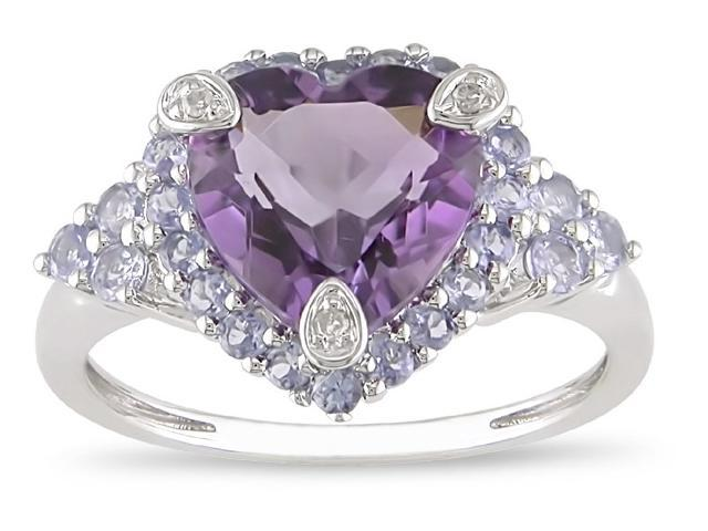 10k Gold  3ct TGW Amethyst and Tanzanite Ring