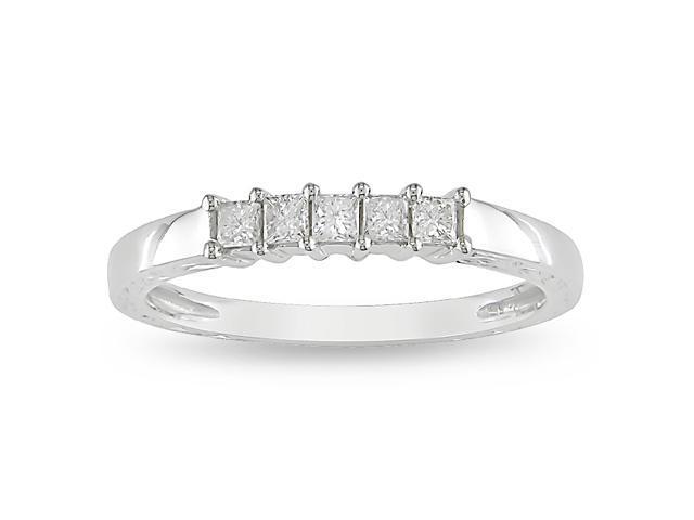 10k White Gold 1/4ct TDW  Anniversary Ring