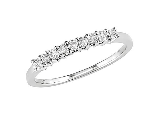 10K White Gold 1/4 Carat Diamond Semi-Eternity Ring
