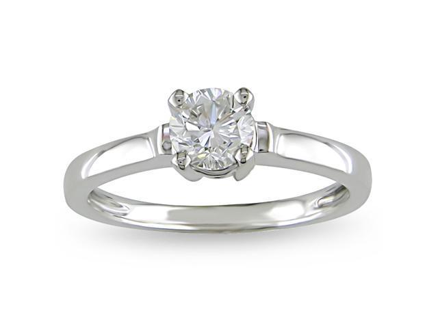 14k White Gold 3/4ct TDW Diamond Solitaire Ring (H-I, I2-I3)
