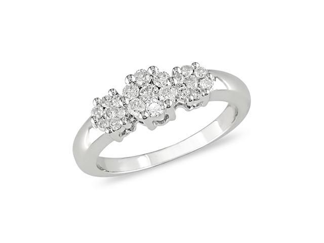 1/2 ct.t.w. Diamond Ring in 10k White Gold
