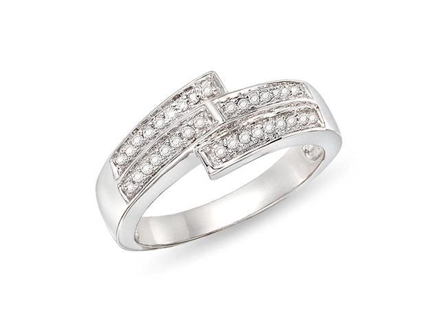 1/6 ct.t.w. Diamond Ring in 10k White Gold, I2-I3, G-H-I