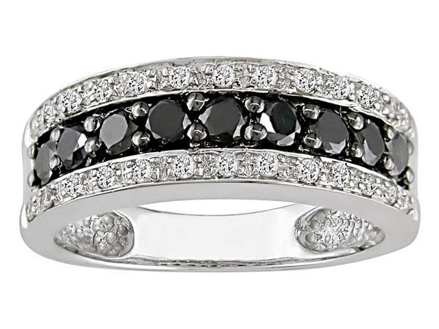 14k Gold 3/4ct TDW Black and White Diamond Ring (H-I-J, I1-I2)