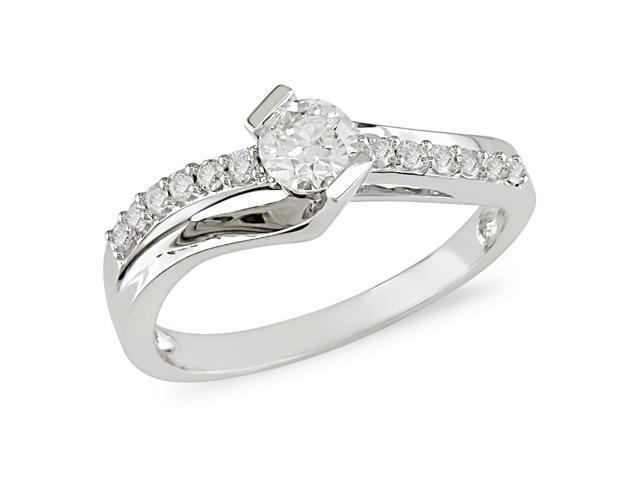 1/2 ct.t.w. Diamond Engagement Ring in 10k White Gold, I2-I3, G-H-I