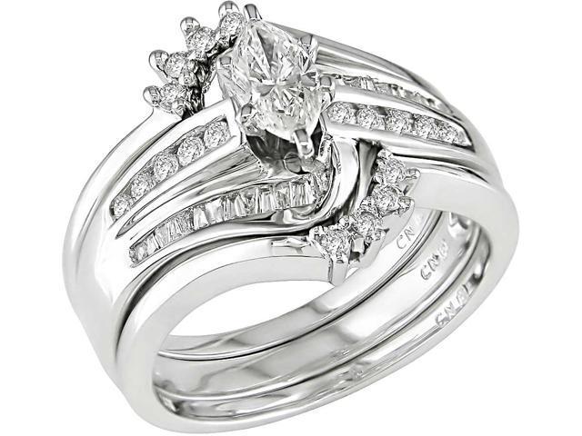 14k Gold 3/4ct TDW Diamond Bridal Rings Set (H-J, I1-I2)