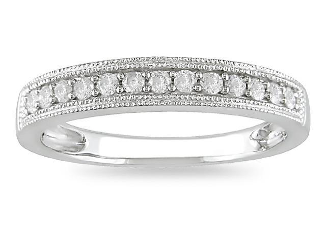 10k White Gold 1/4ct TDW Diamond Wedding Ring