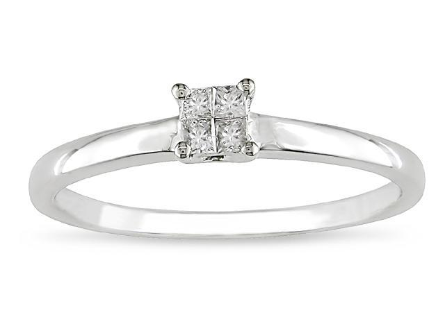 10k Gold 1/10ct TDW Diamond Engagement Ring