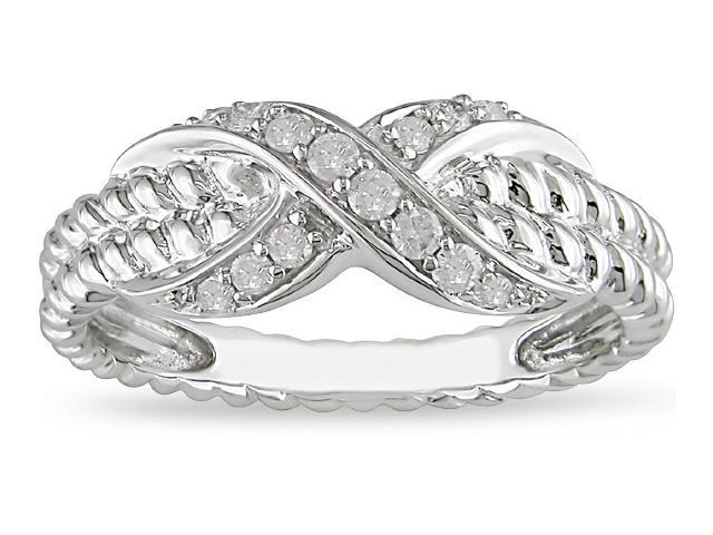 10k White Gold 1/5ct TDW Diamond Ring