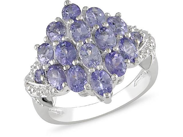 Sterling Silver 2ct TGW Oval Tanzanite Ring