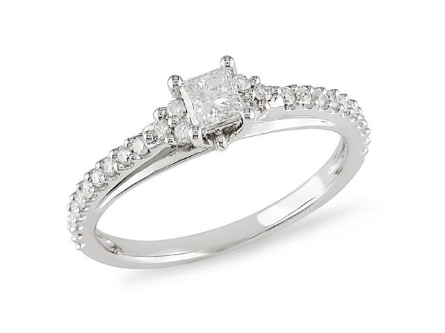 0.45 ct.t.w. Diamond Engagement Ring in 10k White Gold, I2-I3, G-H-I