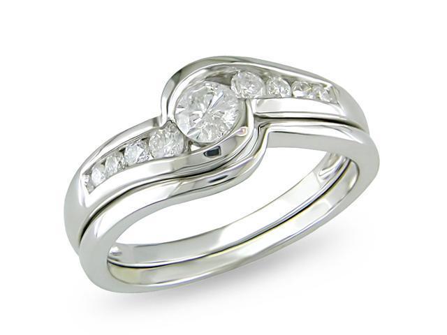 14k White Gold 1/2ct TDW Diamond Fashion Ring (H-I, I2-I3)