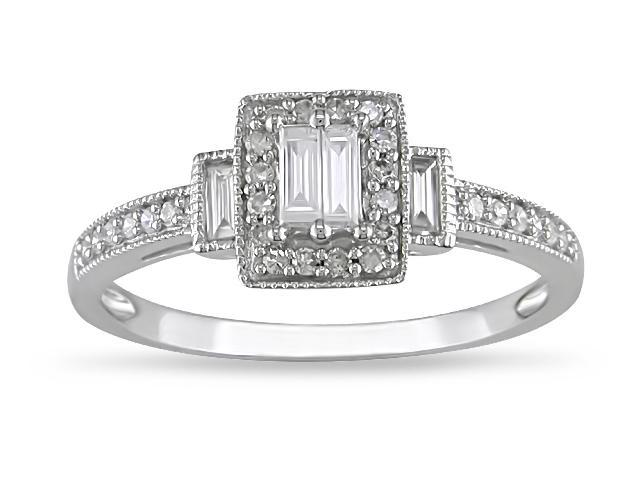 10k White Gold 1/3ct TDW Diamond Engagement Ring