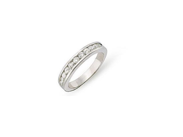14K White Gold 1/2 ctw Diamond Semi-Eternity Ring