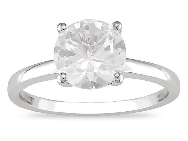 10K Gold 2-1/3ct TGW White Sapphire Ring