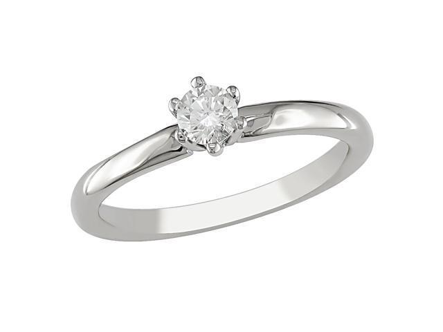 14KW 1/4ctw soliatire diamond ring, G-H I1-I2