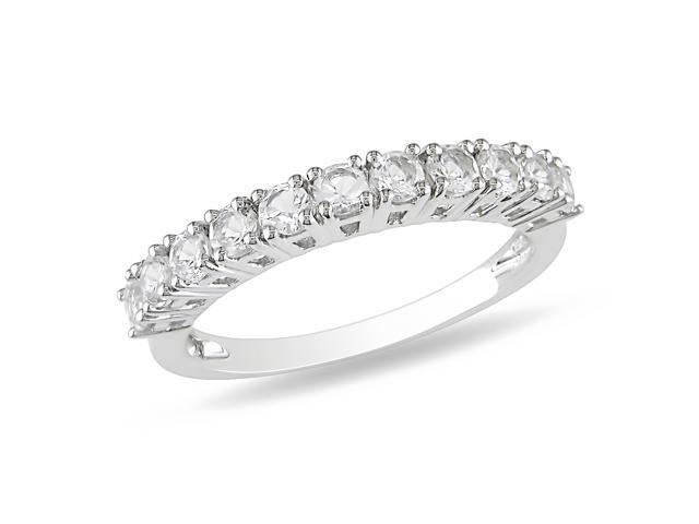 3/4 CT TGW White Topaz Fashion Ring Silver