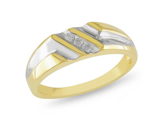 Amour Collection 1/10 cttw. Men's Diamond Two-Tone Ring