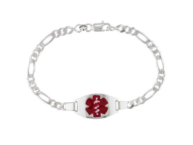 Sterling Silver Bracelet with Lobster Clasp, 7.5