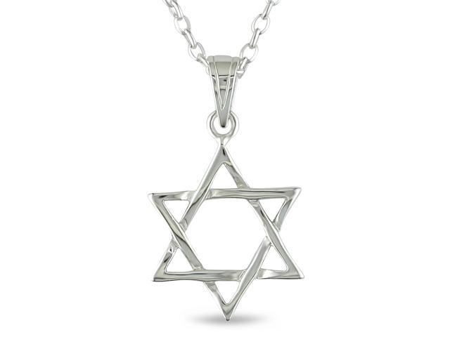 Sterling Siler Star of David Pendant with Chain