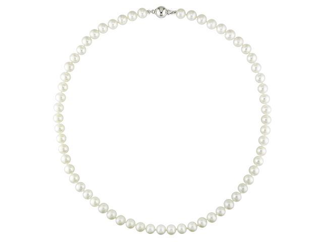 Freshwater 7-7.5mm White Potato Pearl Necklace, 18
