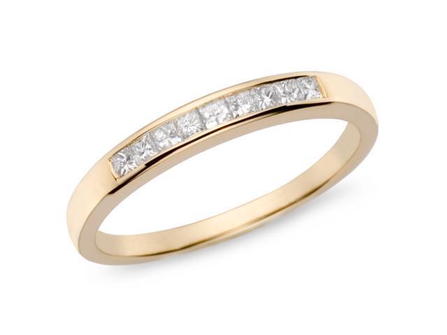1/4ct Diamond TW Eternity Ring 10k Yellow Gold