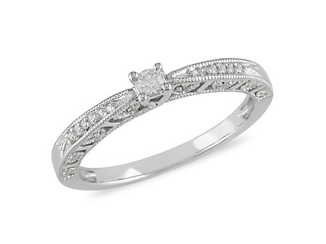 1/10ct Diamond TW Engagement Ring 10k White Gold