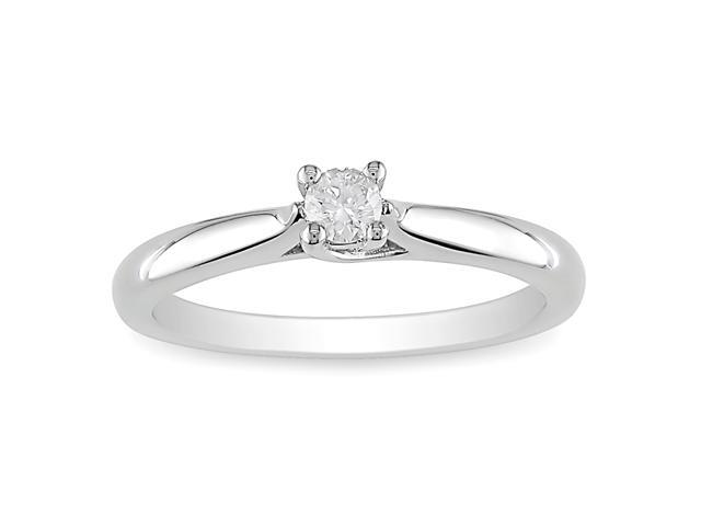 1/6ct Diamond TW Solitaire Ring Silver