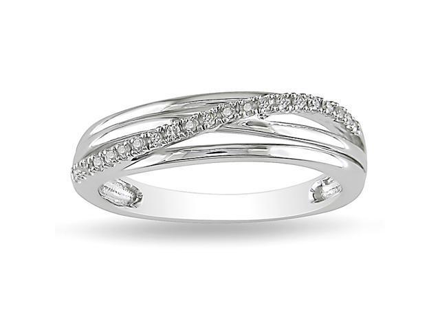 0.06ct Diamond TW Fashion Ring Silver