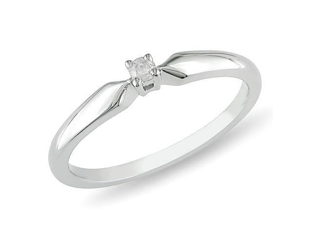 0.05ct Diamond TW Solitaire Ring Silver