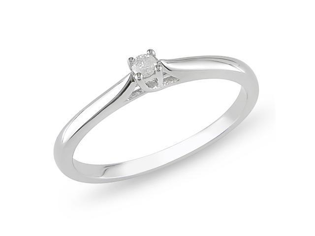 0.05ct Diamond TW Fashion Ring Silver
