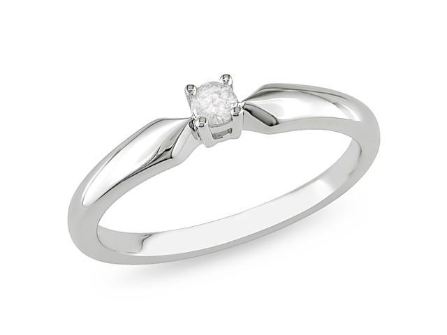 1/10ct Diamond TW Solitaire Ring Silver