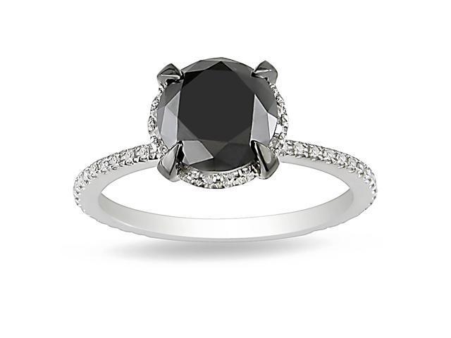 2 3/4ct Black & White Diamond TW Fashion Ring 10k White Gold