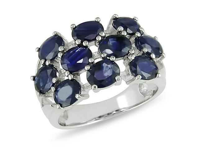 4ct TGW Sapphire Fashion Ring Silver