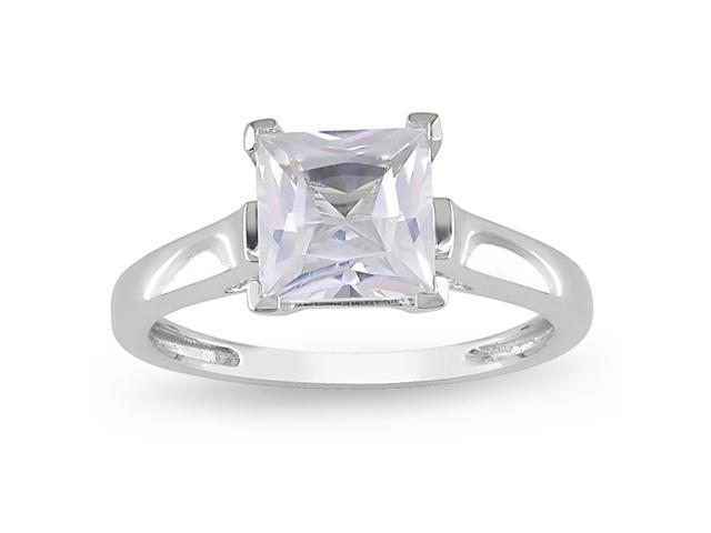 2ct TGW Created White Sapphire Fashion Ring 10k White Gold