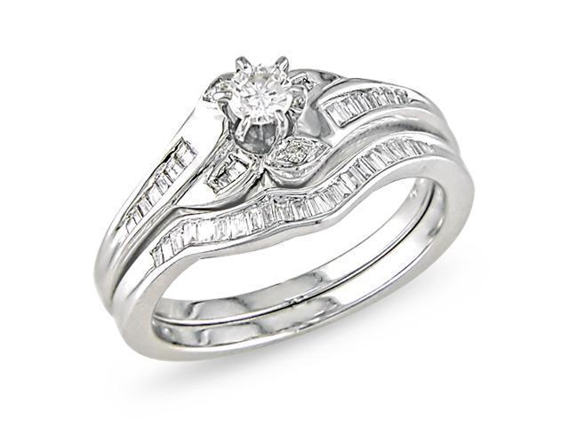 Diamond Topped 14K white gold ring.