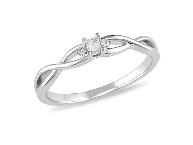 10K White Gold 0.07CT Diamond Engagement Ring