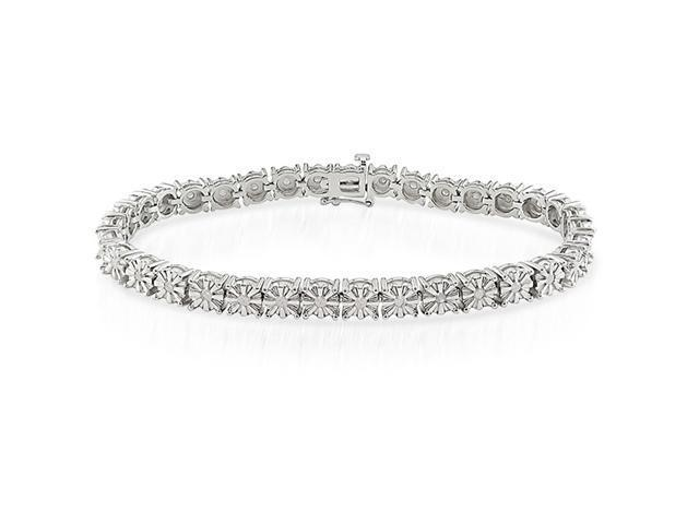 Silver 1/2 CT TDW Diamond Bracelet, 7