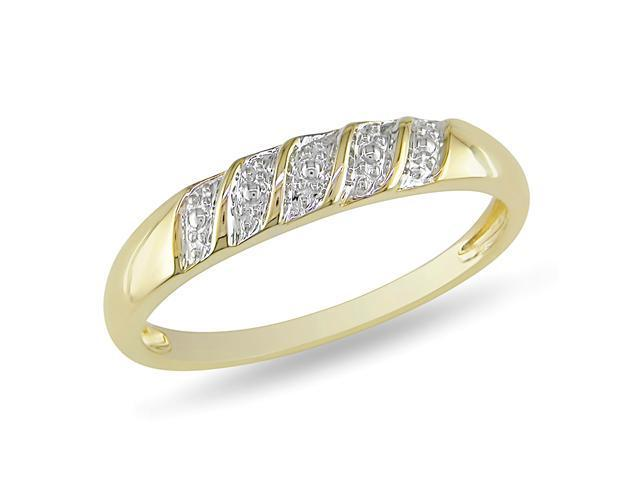 10K Yellow Gold Wedding Band Ring, size 9