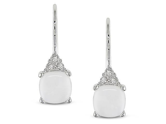 10k White Gold 0.03ct TDW 1 1/5ct TGW Opal shepherd Stud Earrings (G-H, I2-I3)