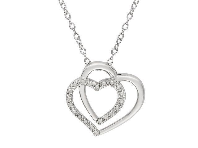1/10 ct. Diamond Sterling Silver Heart Pendant