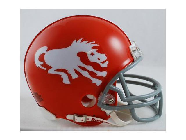 Creative Sports RD-BRONCOSTB-62-65-W Denver Broncos 1962-1965 Throwback Riddell Mini Football Helmet