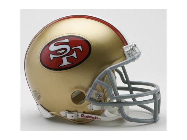 Creative Sports RD-SF49ersTB-MR64-95 San Francisco 49ers 1964-1995 Throwback Riddell Mini Football Helmet