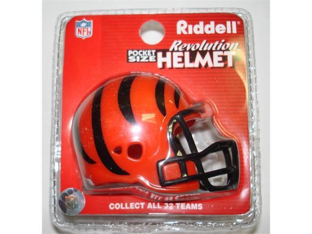 Creative Sports RPR-BENGALS Cincinnati Bengals Riddell Revolution Pocket Pro Football Helmet