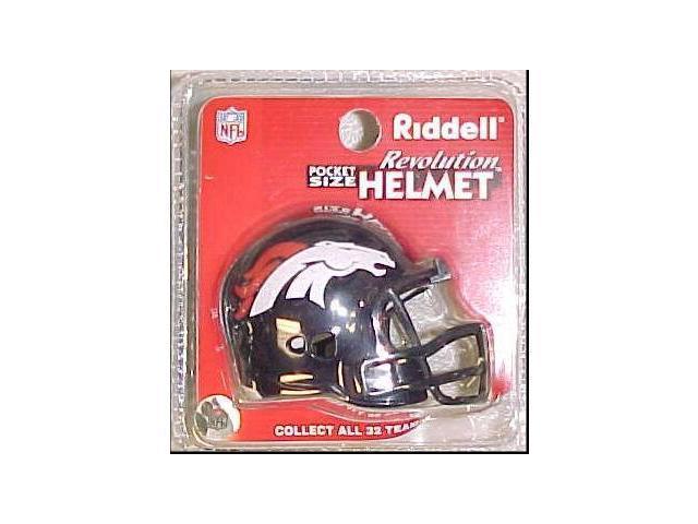 Creative Sports RPR-BRONCOS Denver Broncos Riddell Revolution Pocket Pro Football Helmet