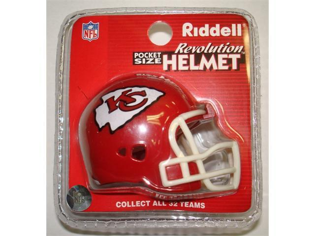 Creative Sports RPR-CHIEFS Kansas City Chiefs Riddell Revolution Pocket Pro Football Helmet