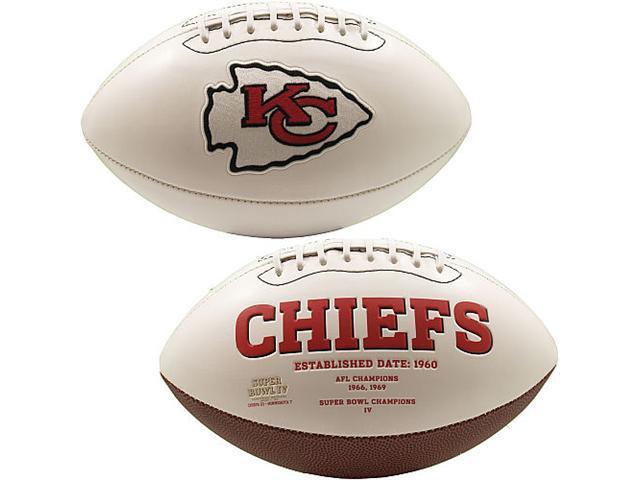 Creative Sports FB-CHIEFS-Signature Kansas City Chiefs Embroidered Logo Signature Series Football