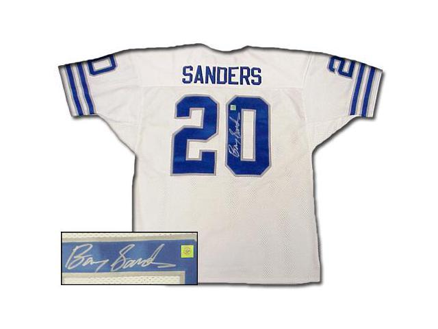 Superstar Greetings Barry Sanders Signed Authentic Style Lions White Jersey BS-AJLW