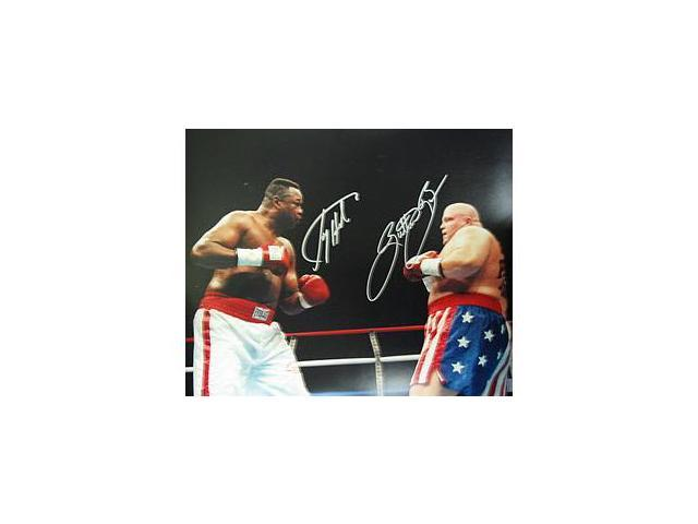 Superstar Greetings Larry Holmes & Butterbean Signed 16X20 Photo LH-BB-16a