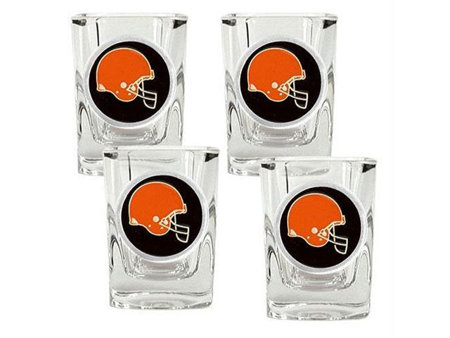 Great American Products Cleveland Browns NFL 4pc Square Shot Glass Set