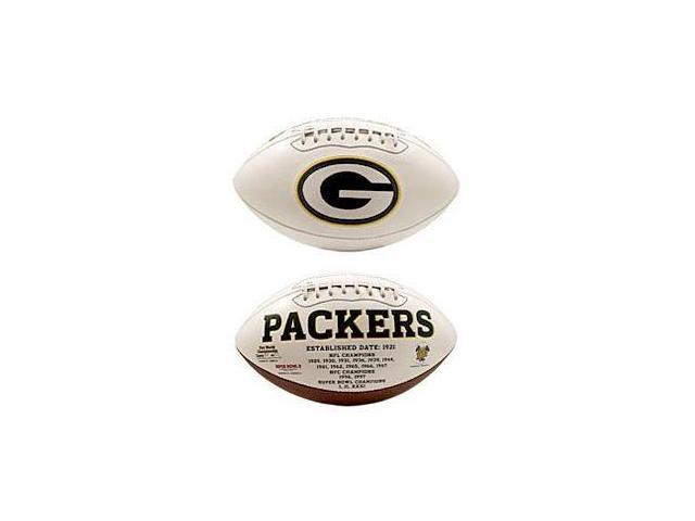 Creative Sports FB-PACKERS-Signature Green Bay Packers Embroidered Logo Signature Series Football
